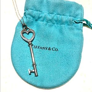 Tiffany & Co key necklace with chain 32 inches